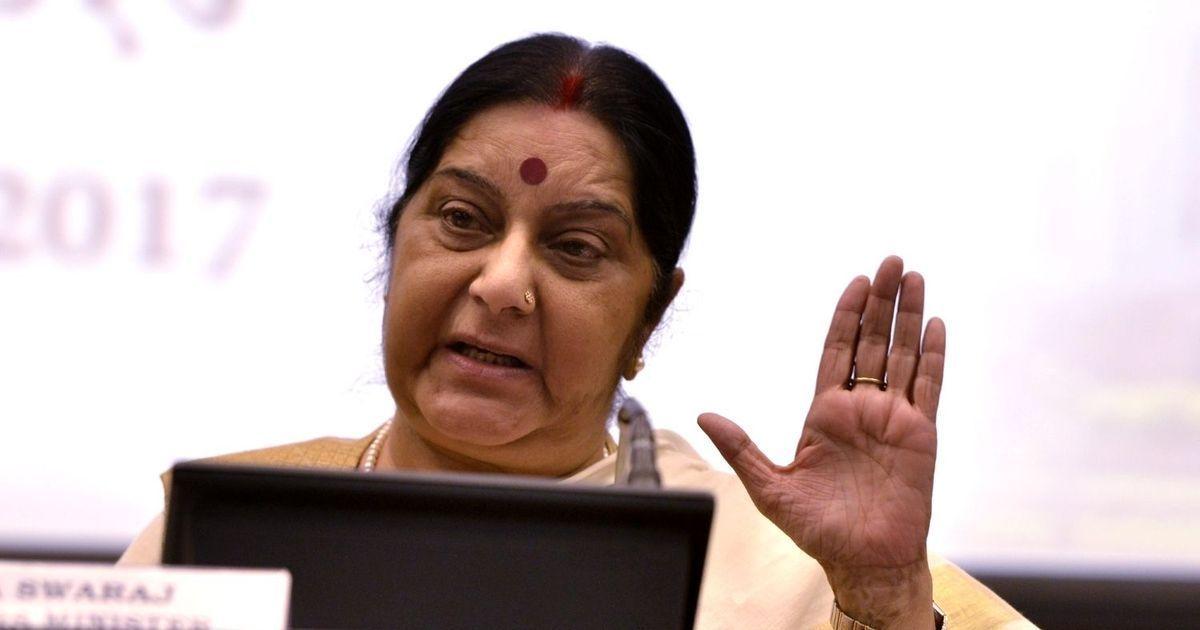 Pakistan turned Kulbhushan Jadhav's meeting with family into a propaganda tool, says Sushma Swaraj