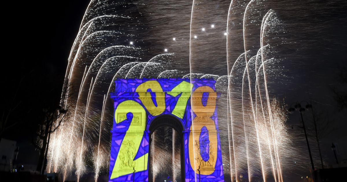 In photos: Revellers around the world usher in 2018 with fireworks and cheers