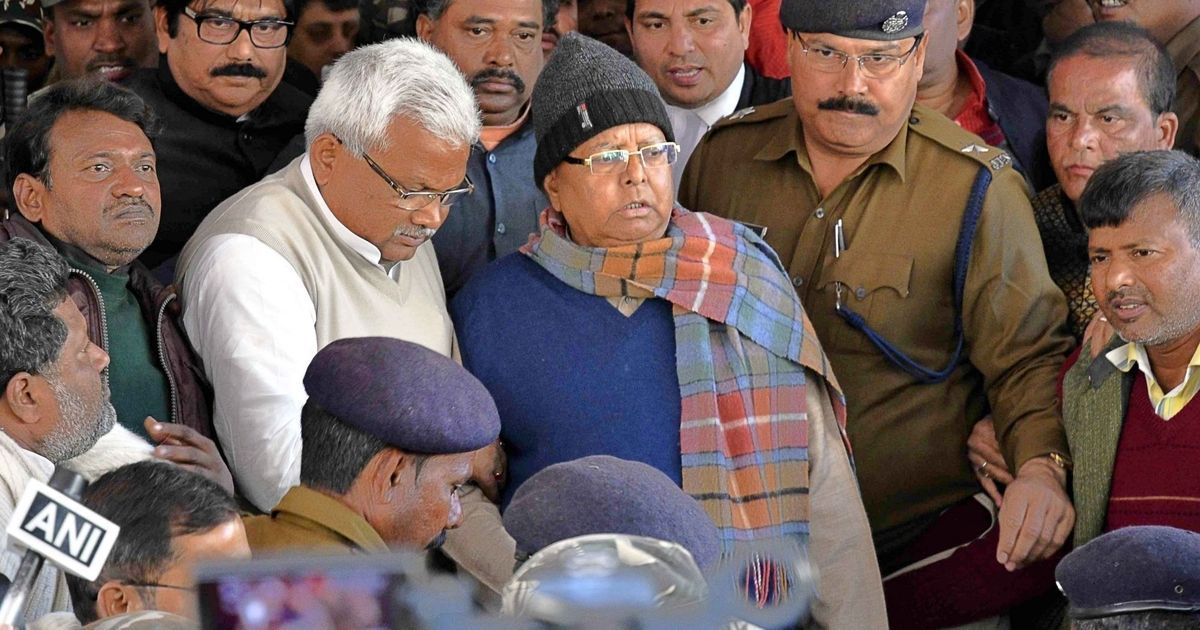 Fodder scam: CBI court sentences Lalu Prasad Yadav to 3.5 years in jail