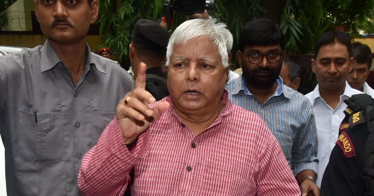 Lalu Prasad Yadav accuses BJP of 'fixing' him soon after his sentencing in fodder scam case