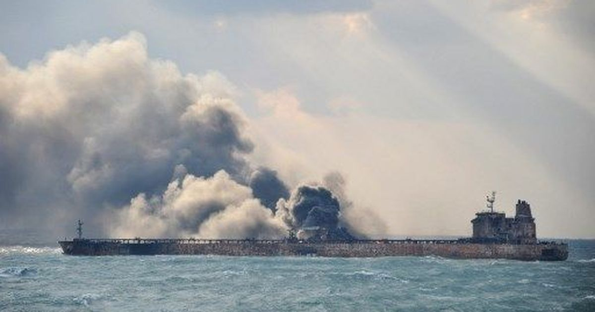 Blast on board burning Iranian oil tanker hinders rescue efforts in East China Sea