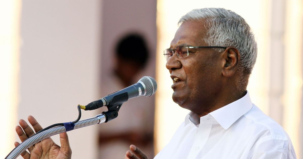 'It is about the future of democracy,' says CPI leader D Raja after meeting Justice Chelameshwar