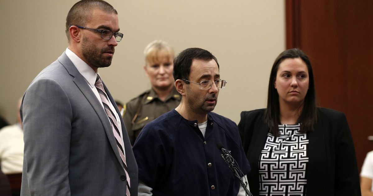 Former US Gymnastics doctor Larry Nassar sentenced up to 175 years in prison for sexual abuse
