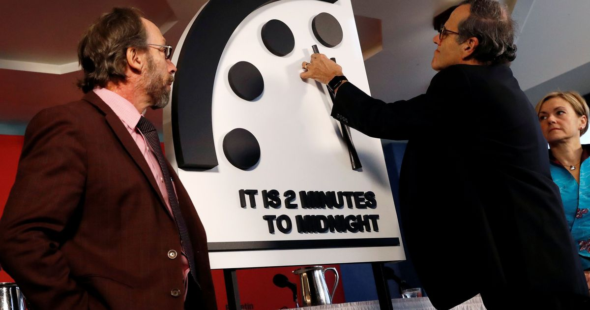 The Doomsday Clock is now just two minutes from the apocalypse