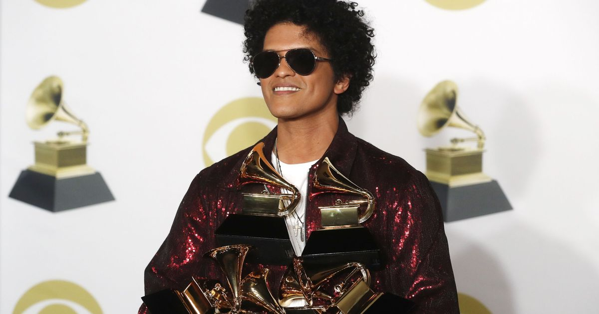 Big wins for Bruno Mars, Kendrick Lamar at the 2018 Grammy Awards