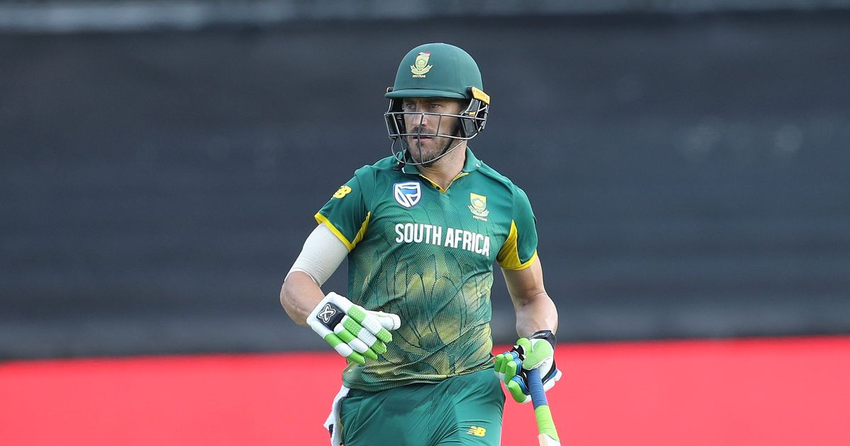 Injured Faf du Plessis ruled out of ODI and T20I series against India