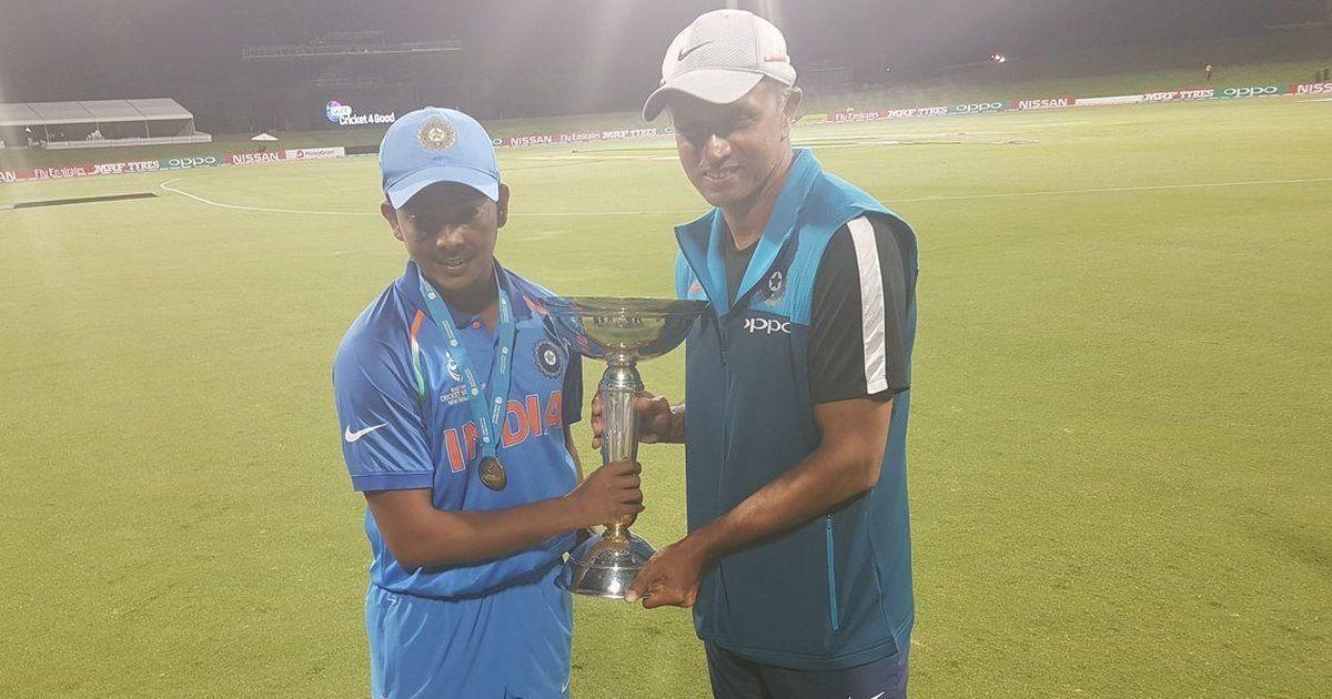 U-19 World Cup: BCCI reward Rs 50 lakh to coach Rahul Dravid, Rs 30 lakh to players