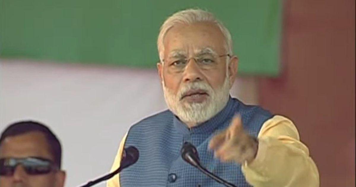 Congress is standing at the exit door in Karnataka, says Narendra Modi in Bengaluru