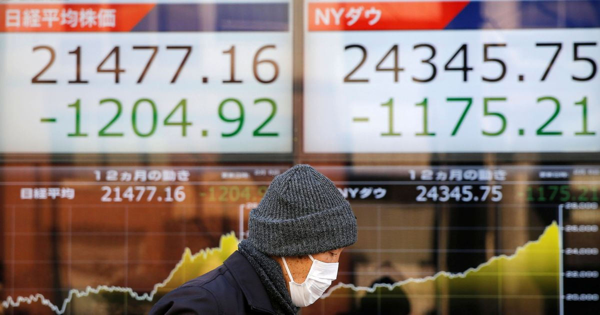 Dow Jones falls the most in a day since 2008 financial crisis, triggers losses in Asian markets