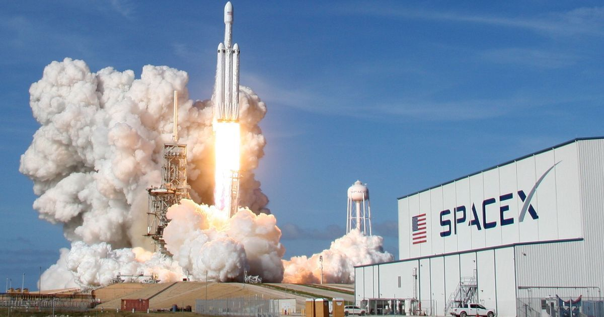 SpaceX's Falcon Heavy rocket, the world's most powerful, soars into orbit