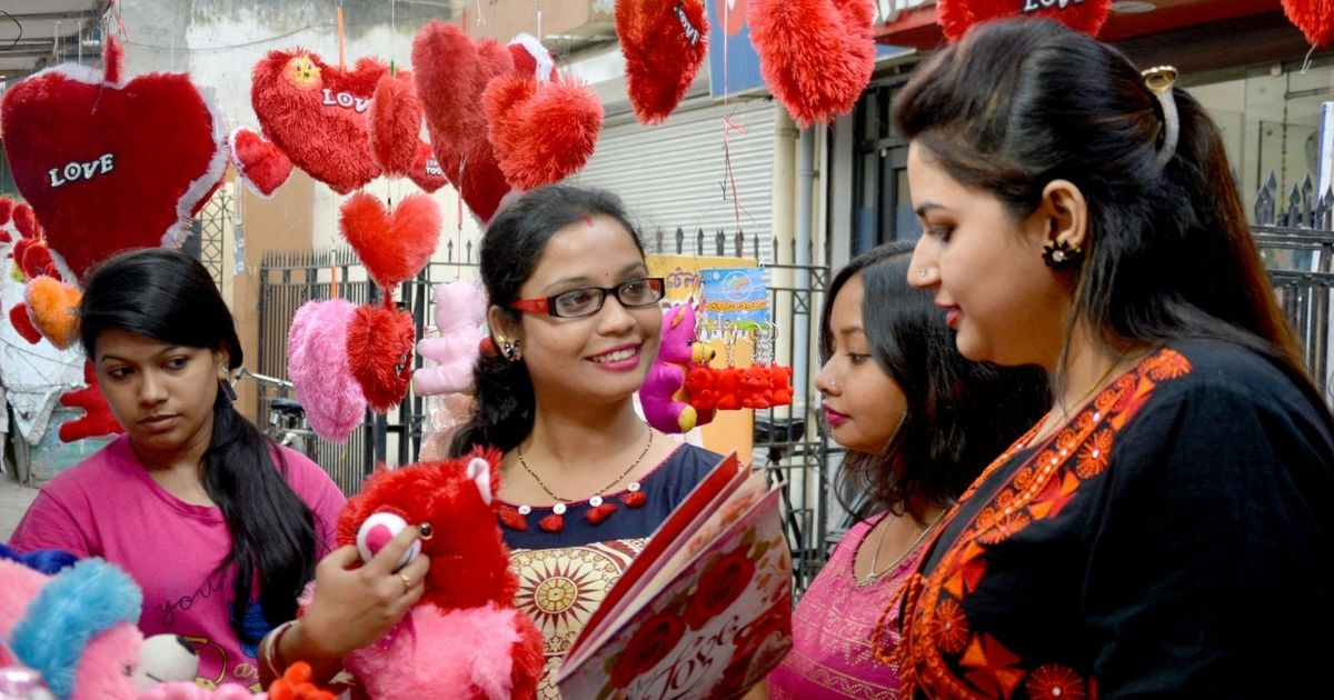 Image result for Celebrated Valentine's Day india