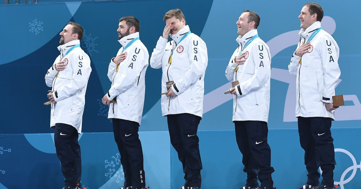 Winter Olympics mix-up: USA men's curling team wins gold but receives women's medals on podium