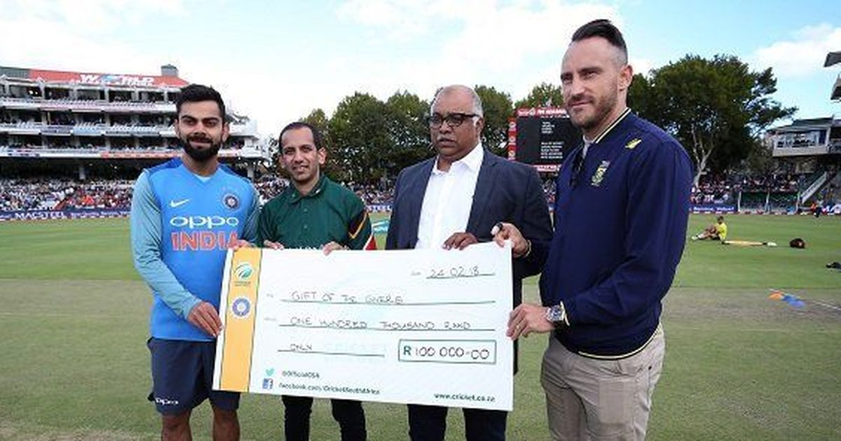More than just a game: Kohli, du Plessis donate for drought-hit Cape Town on behalf of their teams