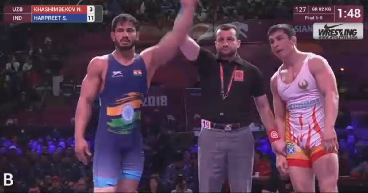 Wrestling: Harpreet Singh clinches bronze in 82kg Greco-Roman category at Asian Championships
