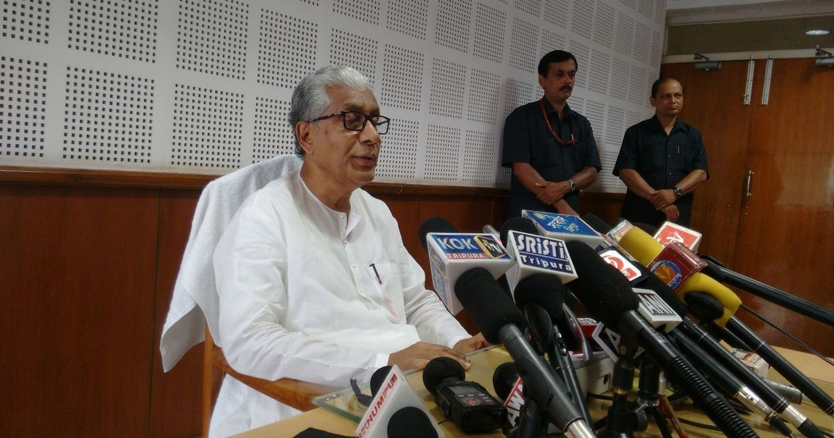 Tripura CM Manik Sarkar submits resignation, will continue in office till new government is sworn in