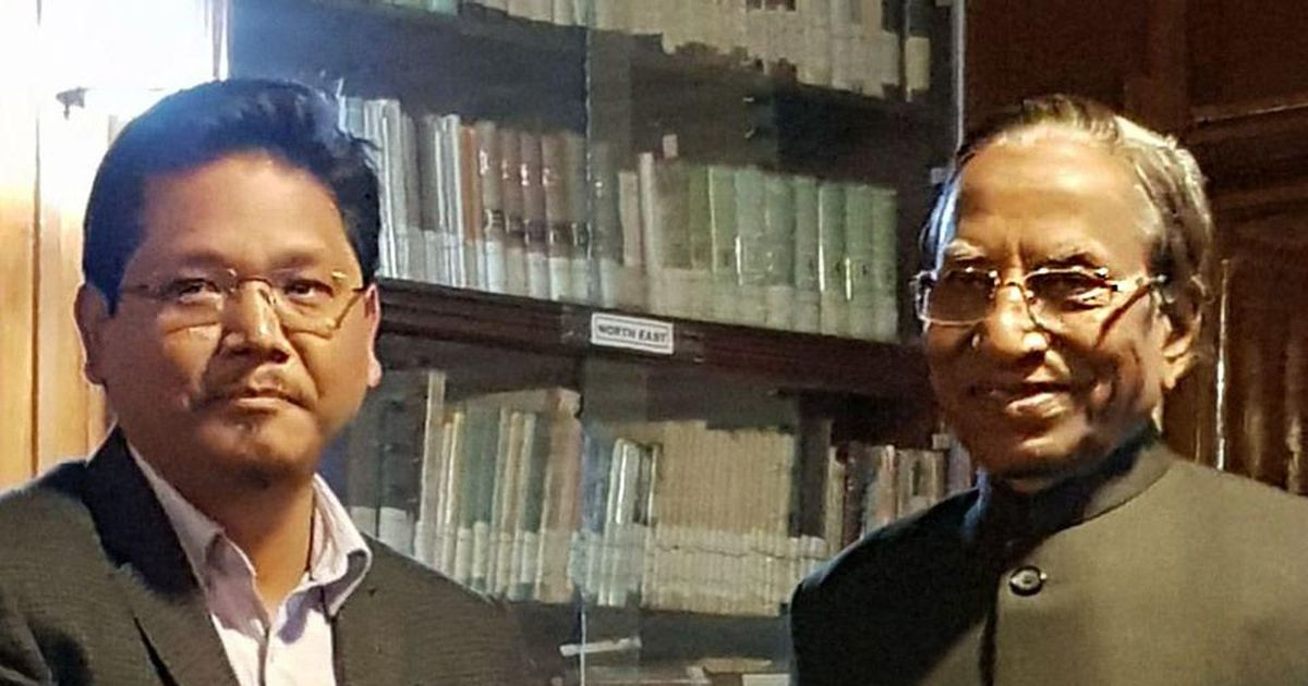 National People's Party chief Conrad Sangma takes oath as Meghalaya chief minister