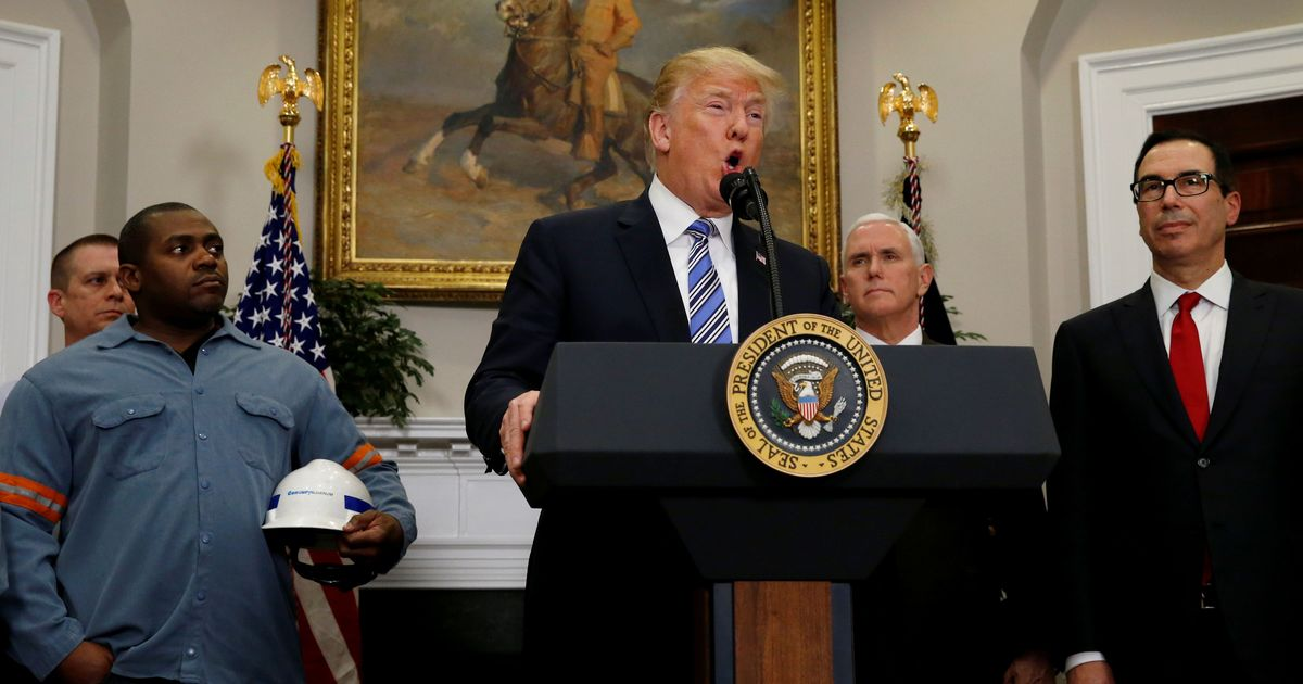 Donald Trump signs order levying high steel, aluminium tariffs, but leaves wiggle room for allies
