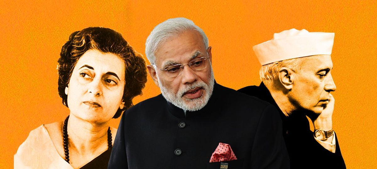 Is it true India's income growth beat the world average only when Nehru-Gandhis were not in power?
