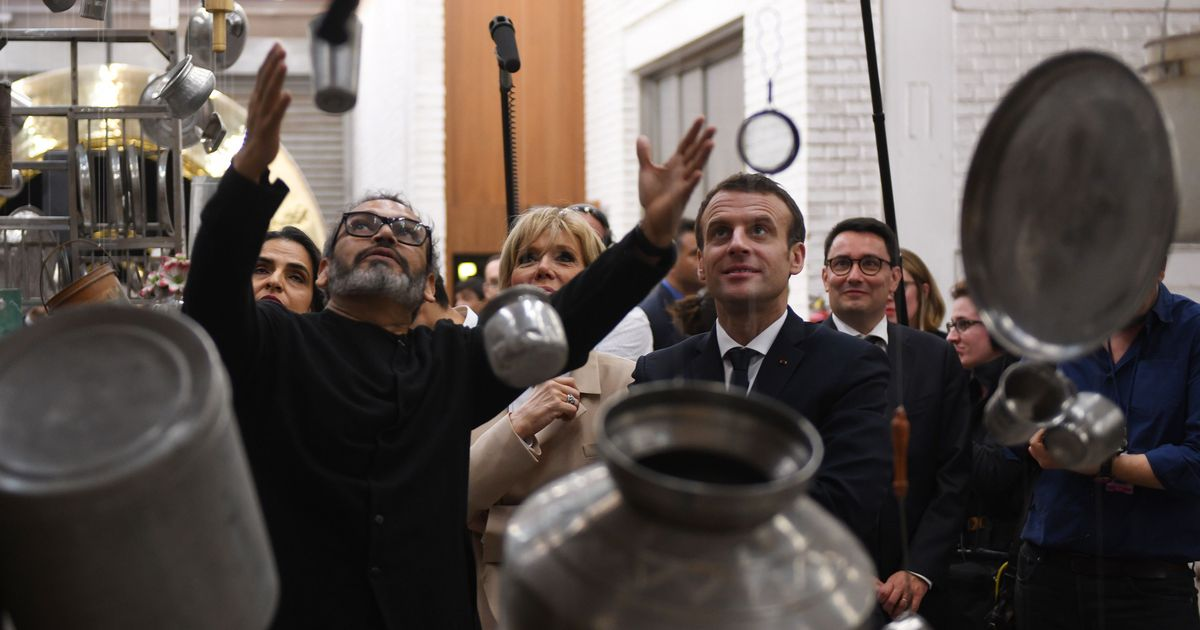 The art of war: The irony of arms trader Emmanuel Macron's visit to Subodh Gupta's studio