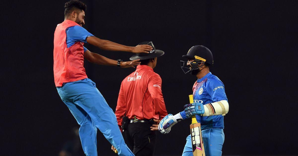 Dinesh Karthik smacks last-ball six as India win thrilling tri-series final against Bangladesh