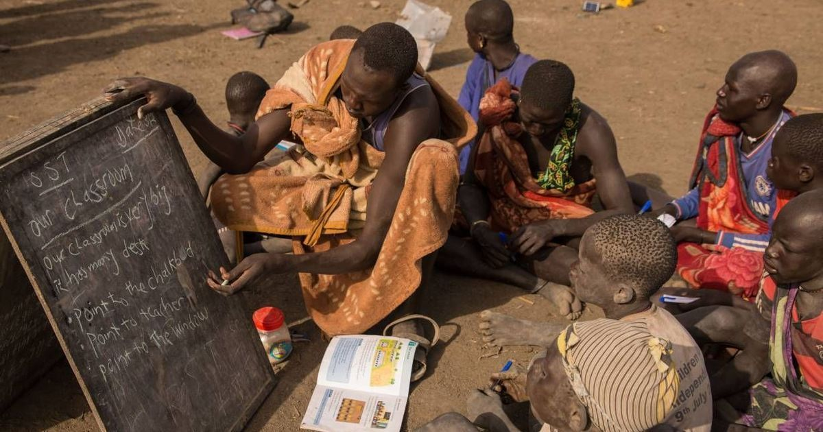 In South Sudan's cattle camps, mobile schools are introducing children to formal education