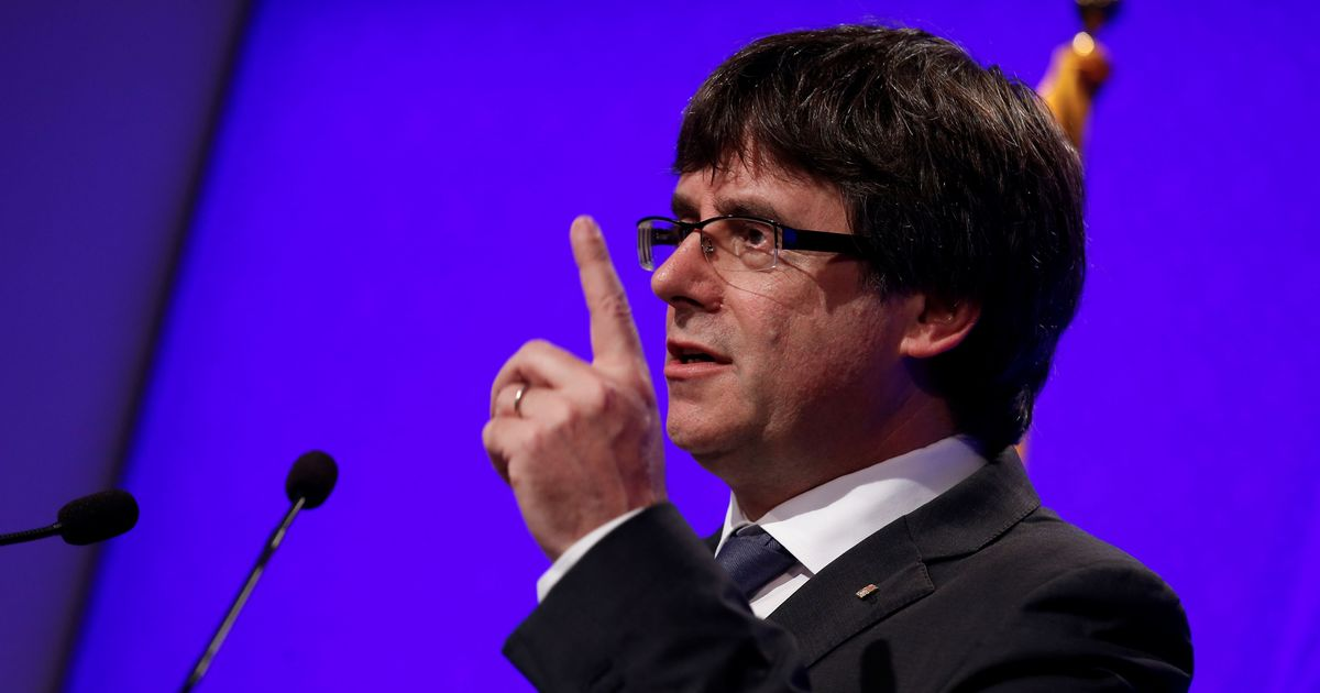 Former Catalan President Carles Puigdemont detained in Germany