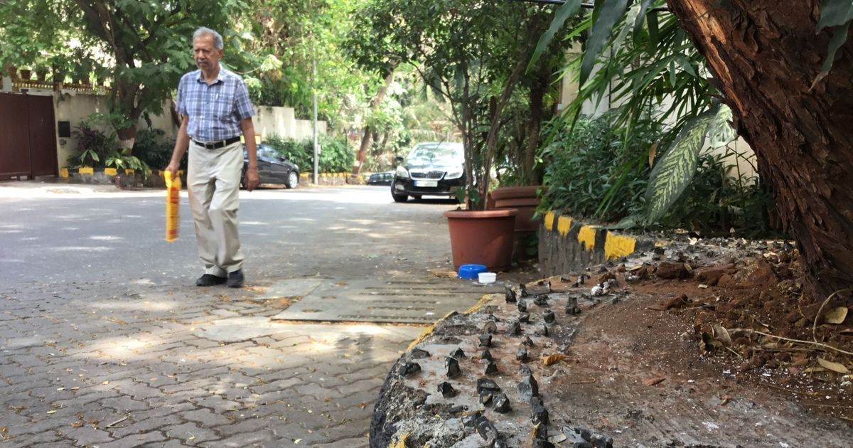 HDFC spikes: Mumbai's tony Pali Hill also uses hostile design to deter workers, hawkers from sitting