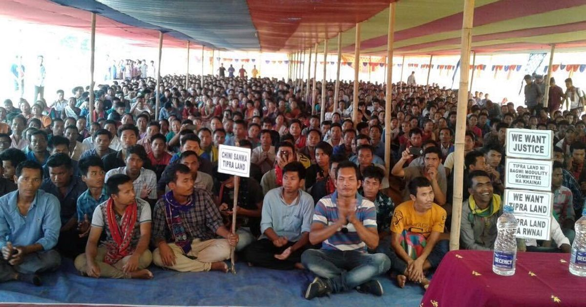 Cracks in Tripura ruling coalition as BJP's partners protest inaction on statehood demand by tribals