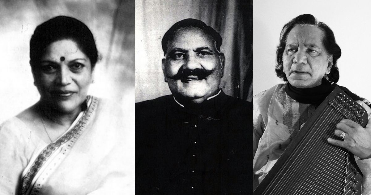 Listen: Bade Ghulam Ali Khan, Jagdish Prasad and Shobha Gurtu perform thumris set to Kaharvaa taal