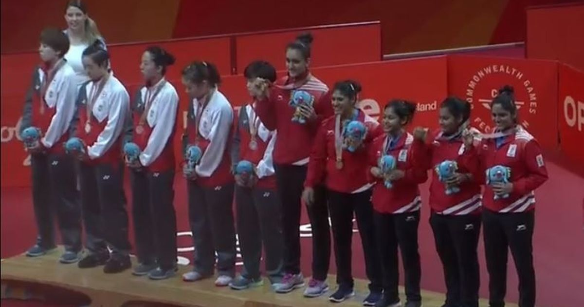 CWG 2018: Led by Manika Batra, India stun Singapore to clinch women's team table tennis gold