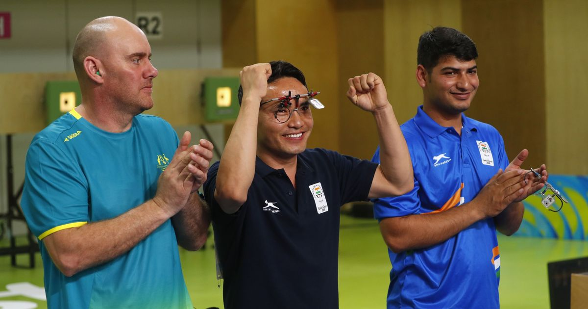 CWG 2018 Shooting: Jitu Rai, Mitharval clinch gold and bronze in 10m Air Pistol event