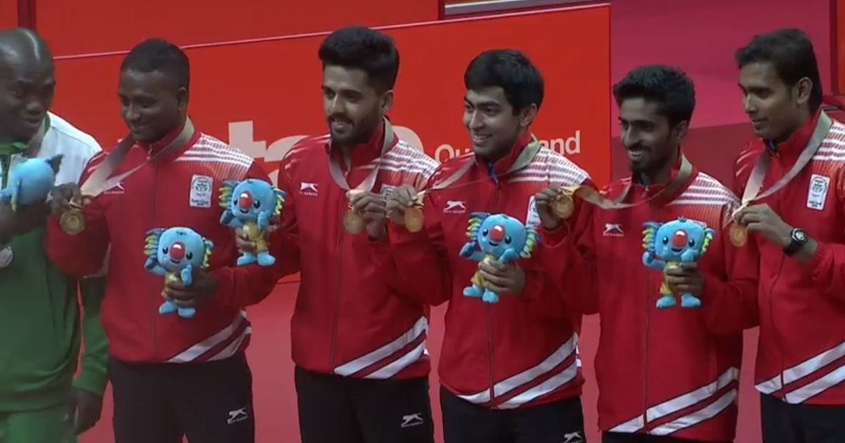 CWG 2018 table tennis: India complete the double as the men's team clinches gold