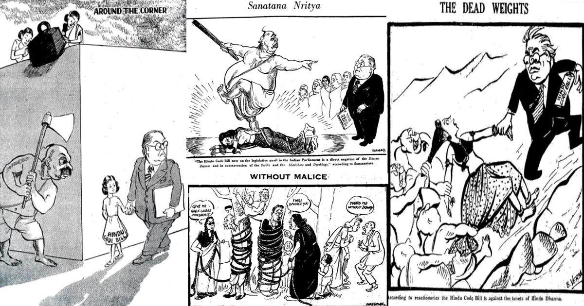 Cartoons on Ambedkar's contribution to Hindu Code Bill: Twitter user resurrects forgotten history