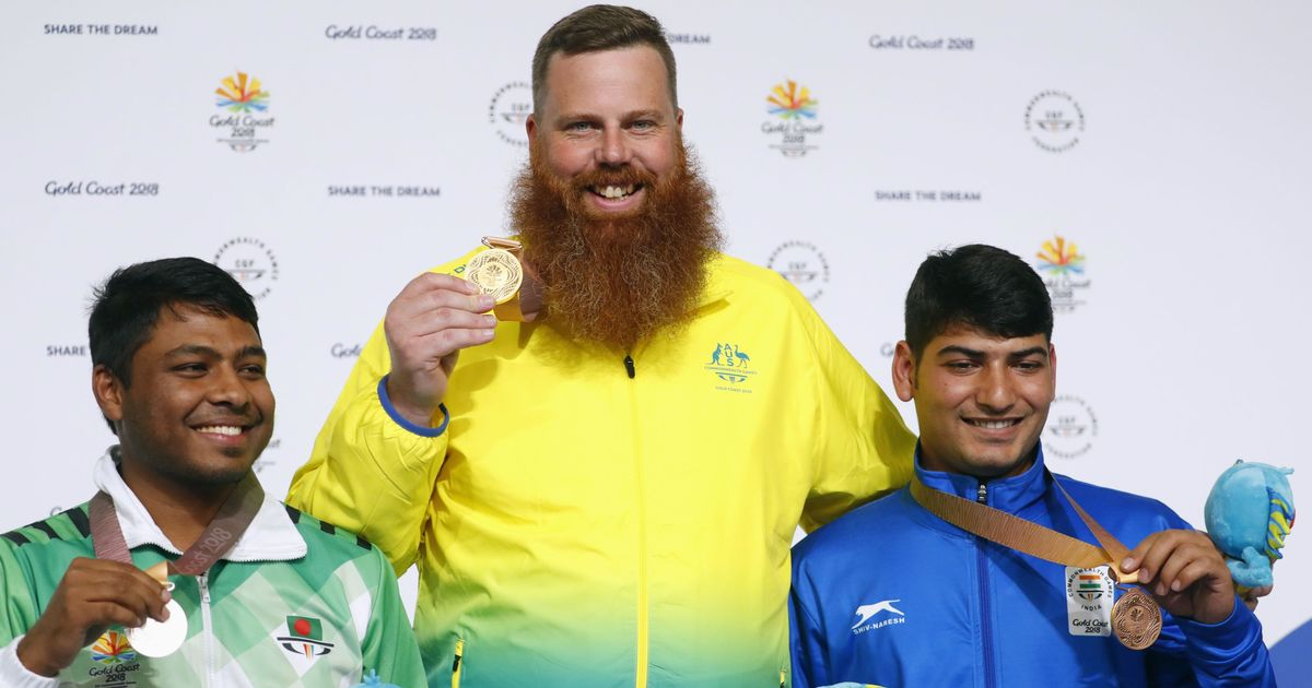 CWG 2018 Shooting: Om Mitharval bags bronze as Jitu Rai disappoints in 50 m Pistol event