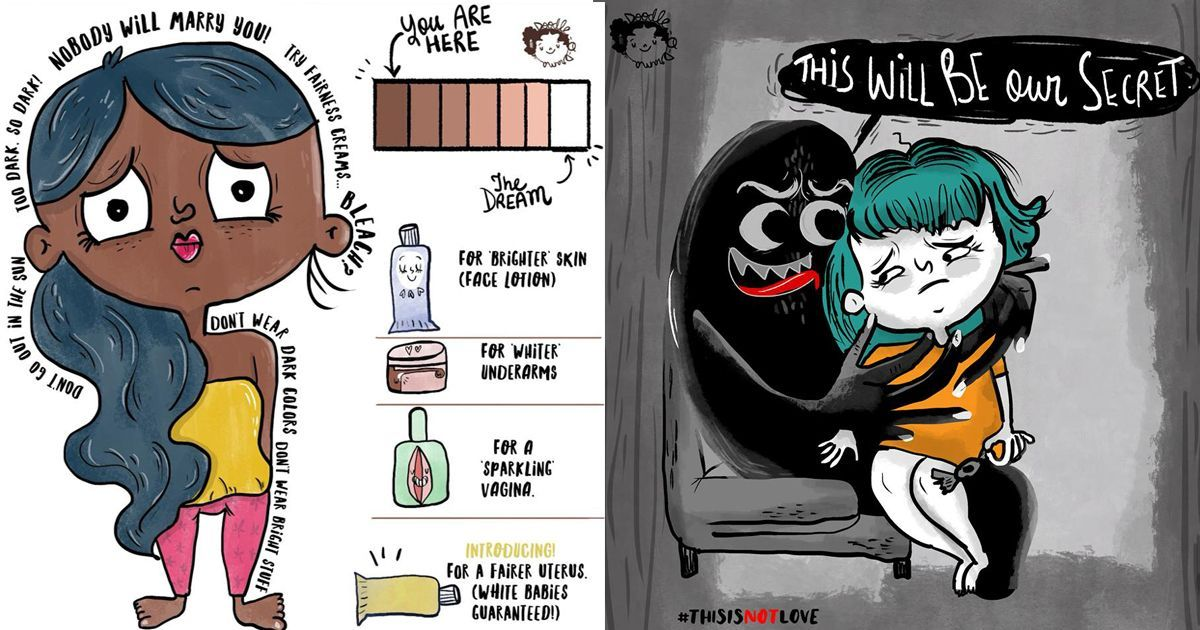 With humour and honesty, an Indian illustrator highlights young women's lives and concerns