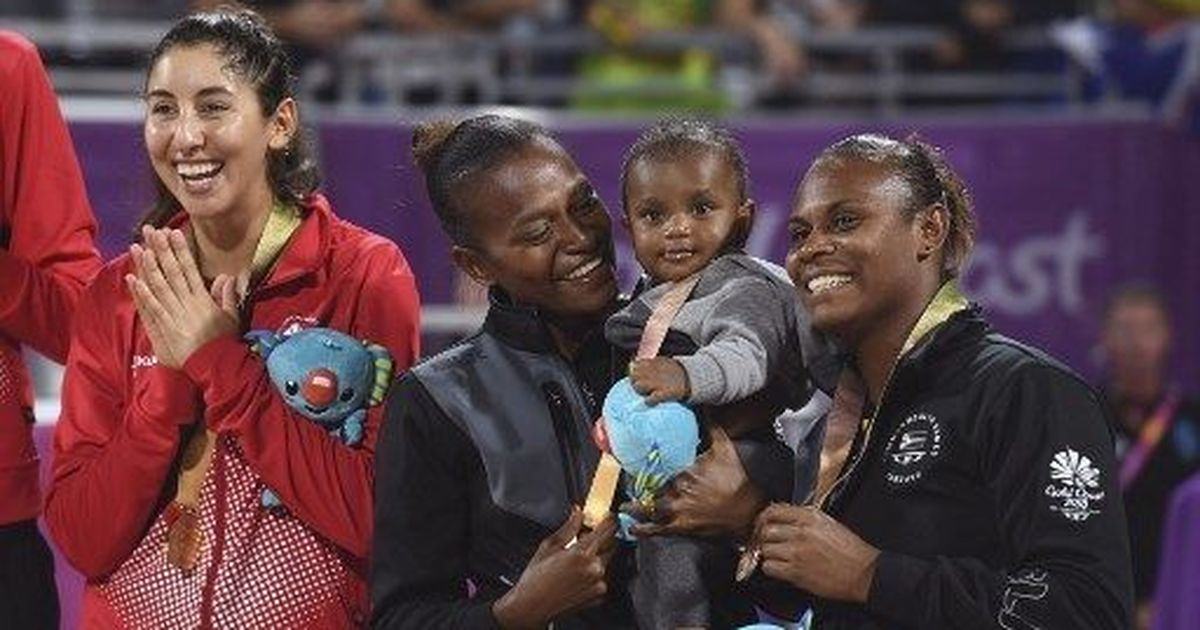 Beach volleyball, nappy changes, baby feeds and CWG bronze for Vanuatu mum Miller Pata