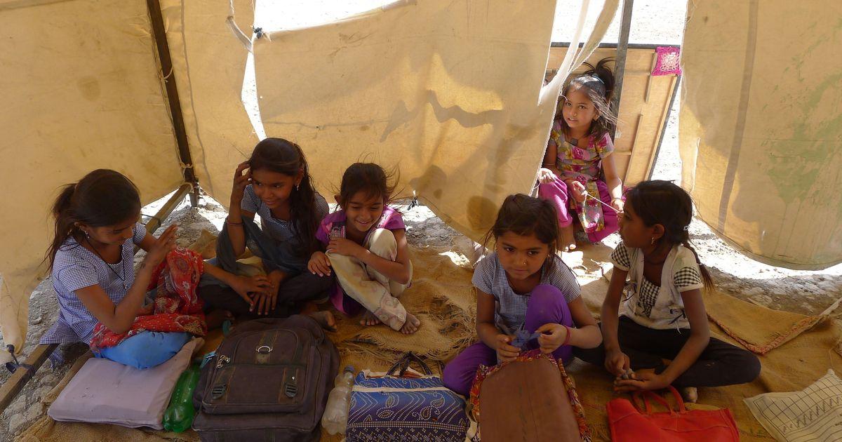 In Gujarat's isolated Rann of Kutch, 'tent schools' offer hope to children of Agariya salt workers
