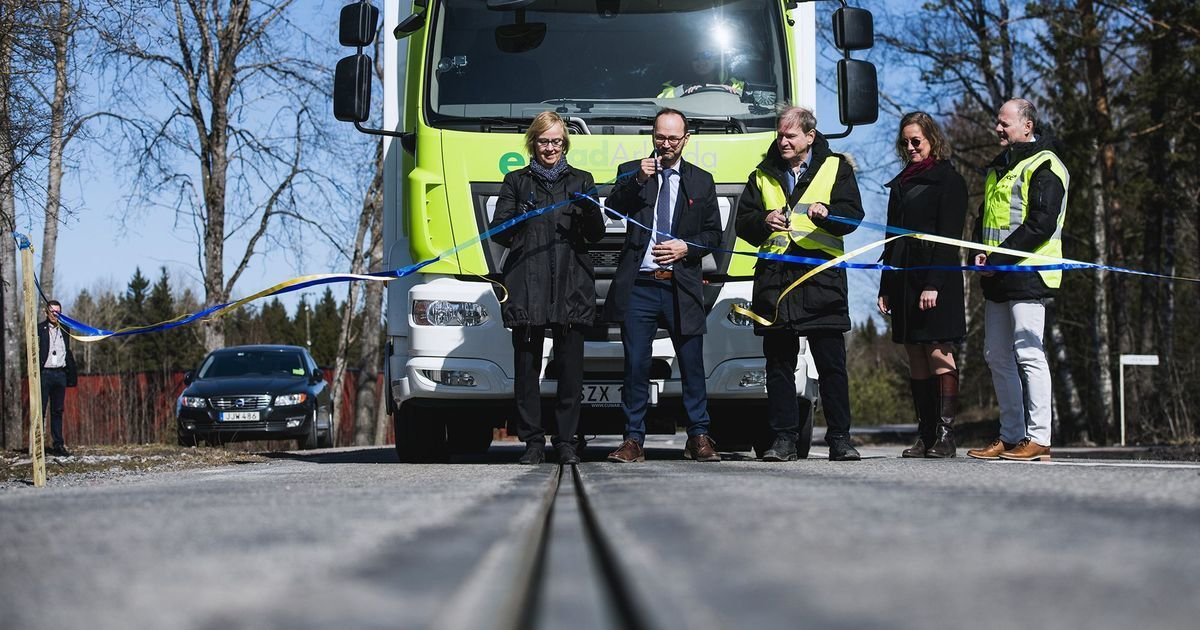 Sweden's first 'smart road' charges moving electric vehicles – but is it a workable solution?