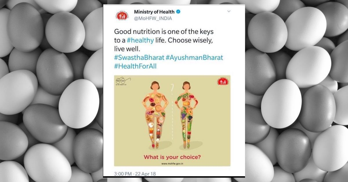'Fat-shaming': Twitter takes apart Ministry of Health post linking meat and eggs with junk food