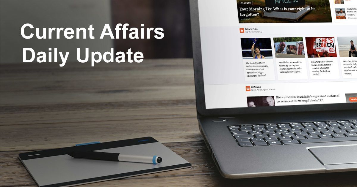 Current Affairs April 27th 2018