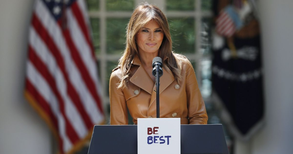 Melania Trump launches initiative on online safety – but its booklet is not original
