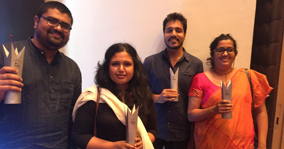 Scroll.in's Menaka Rao, Shone Satheesh, Smitha Nair and Sruthisagar Yamunan win RedInk awards