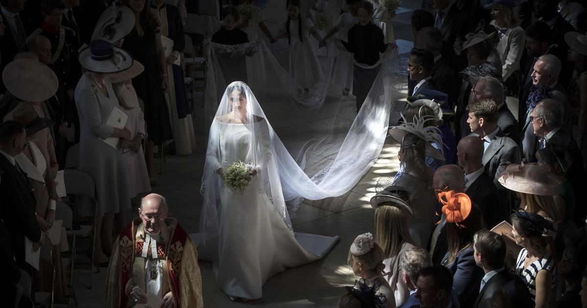 Embroidered into Meghan Markle's veil was Britain's bid to celebrate its bloody colonial history