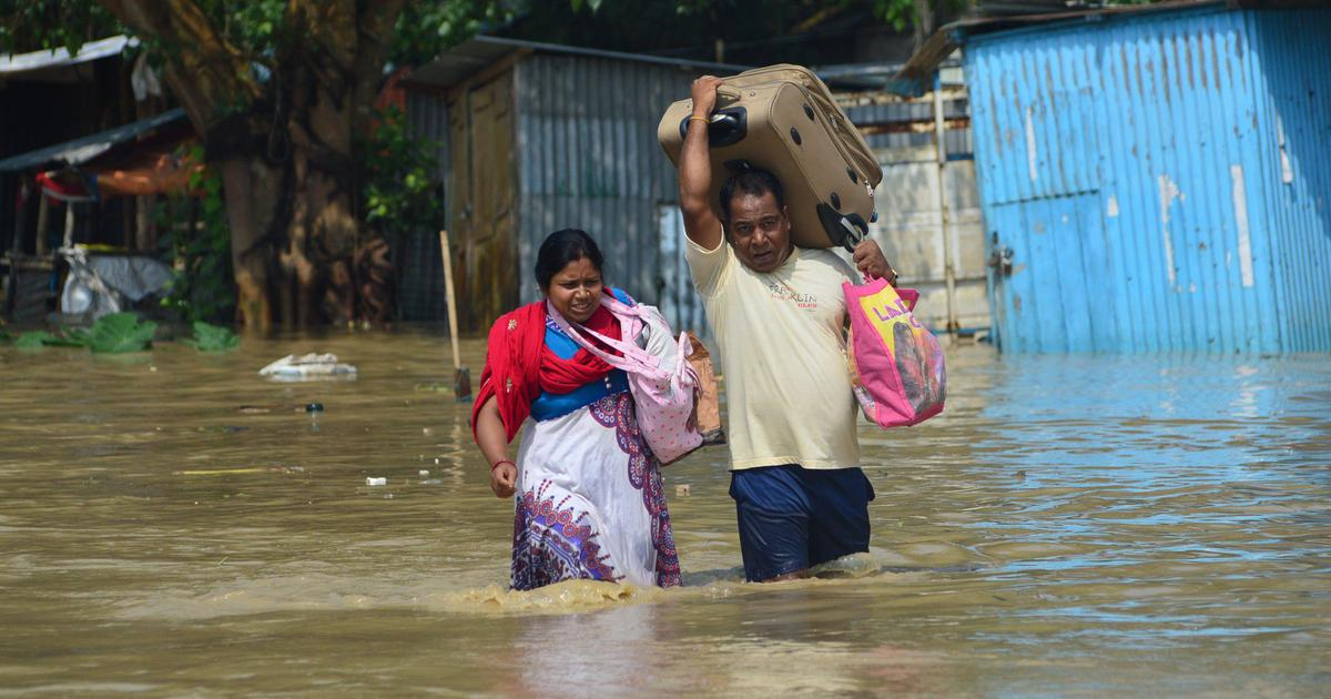 In pictures: Flash floods in Tripura kill six people, displace thousands of families in a day