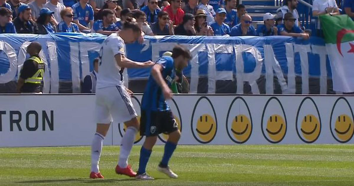 Watch: Ibrahimovic gets first MLS red card after slapping opponent and feigning injury