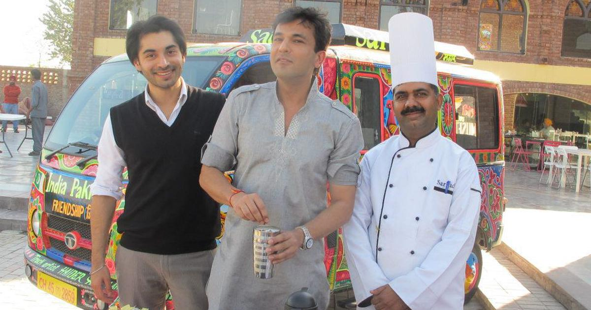 A restaurant on the India-Pakistan border is building bridges between the nations with food and art