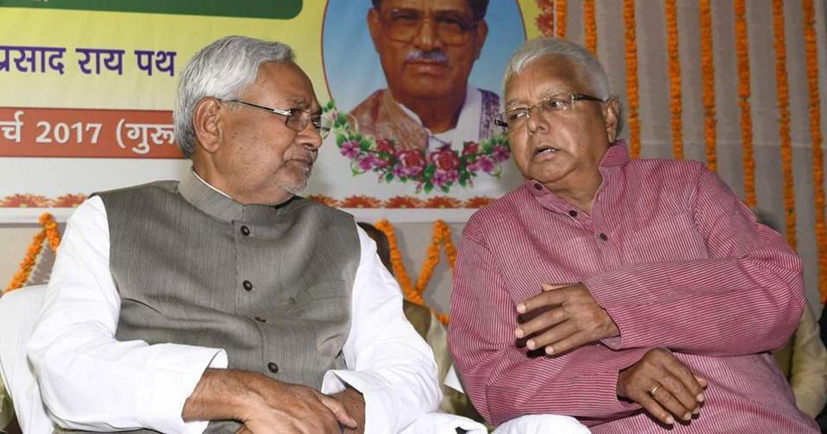Bihar Chief Minister Nitish Kumar said to be seeking reconciliation with Lalu Yadav