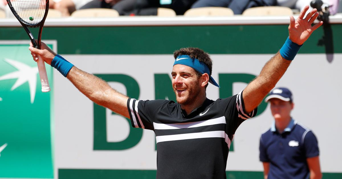 Emotional del Potro perseveres to down Cilic and set up semi-final clash with Nadal