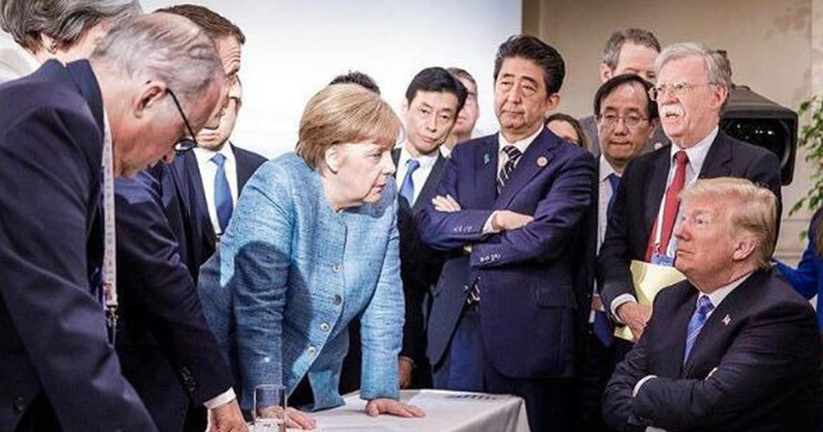 'No Donald, that's not how musical chairs works': Viral G7 photo is Twitter's latest caption contest