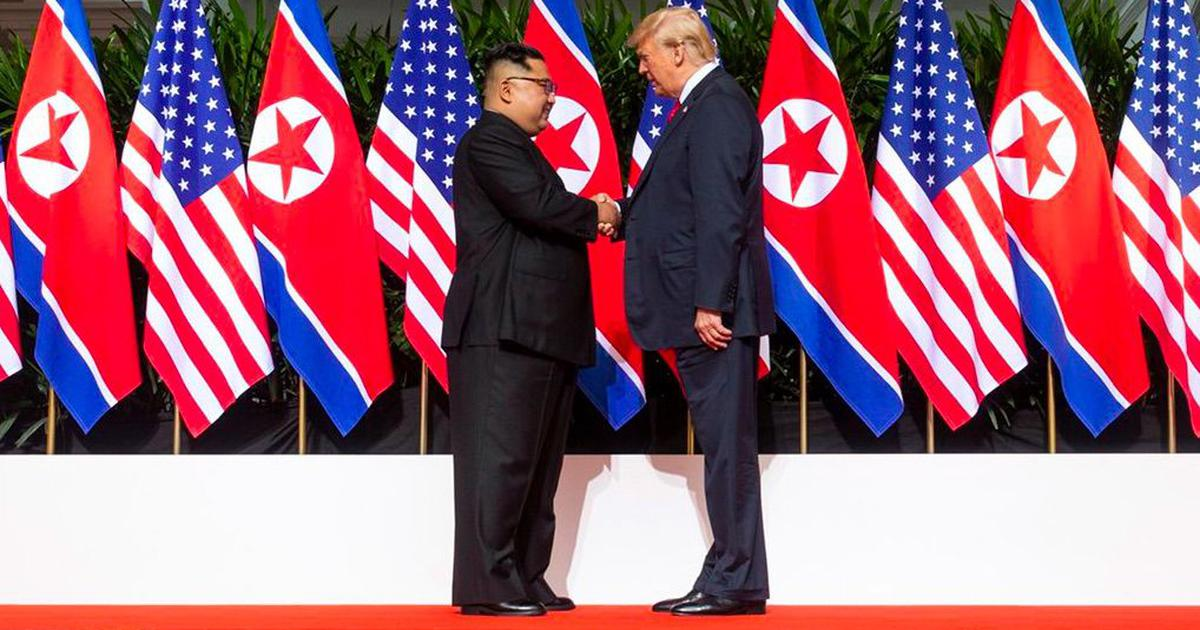 Summit with Kim Jong-un has averted a nuclear catastrophe, says US President Donald Trump